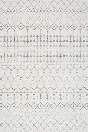 Lucienne Geometric Gray Area Rug, 8' x 11' - Wayfair