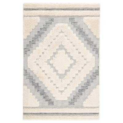 Mcjunkin Geometric Gray/Beige Indoor/Outdoor Area Rug - Wayfair