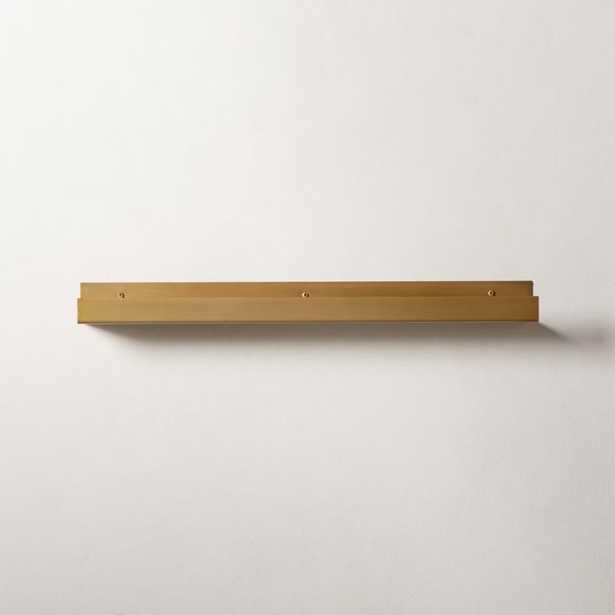 "Metal Wall Ledge Antique Brass 24"" - CB2"