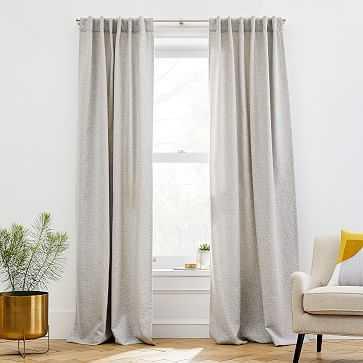 "Dash Jacquard Curtain, Pearl Gray, 48""x84"" - West Elm"