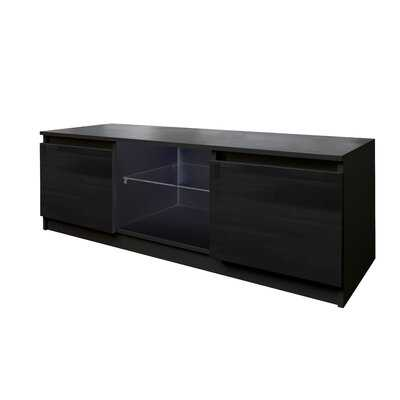 Tv Cabinet Wholesale, Black Tv Stand With Lights, Modern Led Tv Cabinet With Storage Drawers, Living Room Entertainment Center Media Console Table,Black - Wayfair