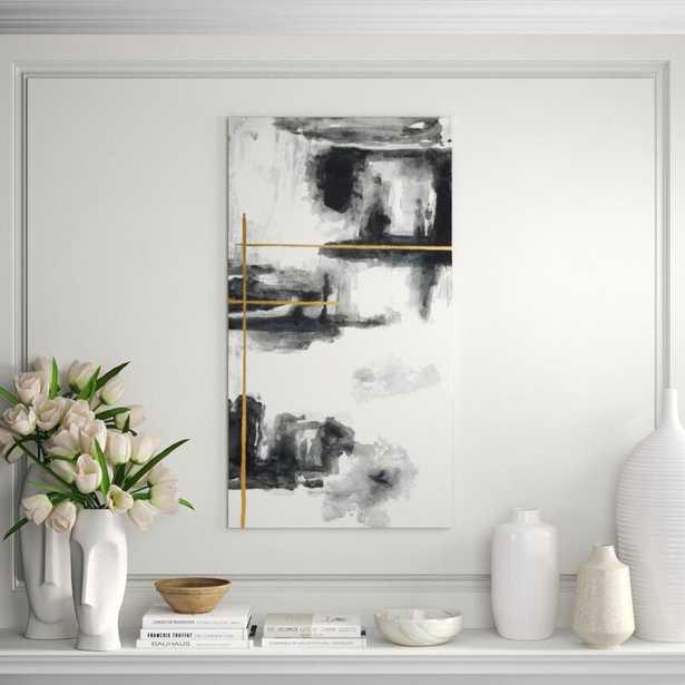 "Chelsea Art Studio 'Gold Line I' Print Format: Glass Coat, Size: 44"" H x 24"" W - Perigold"