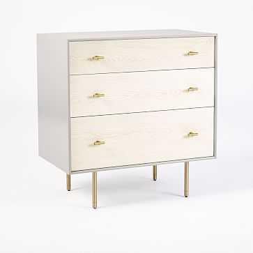 Modernist Wood + Lacquer 3-Drawer Dresser - Winter Wood - West Elm