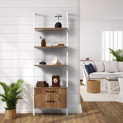 3-Tier Wall-Mounted Bookcase With 2 Wood Drawers - Wayfair