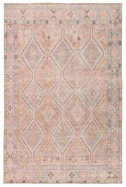 """Marquesa Trellis Light Pink/ Blue Area Rug (7'6""""X9'6"""") KINDRED - KND01 - Collective Weavers"""