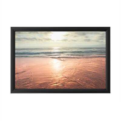 Sunset Beach Reflections by Ariane Moshayedi - Picture Frame Print - Wayfair