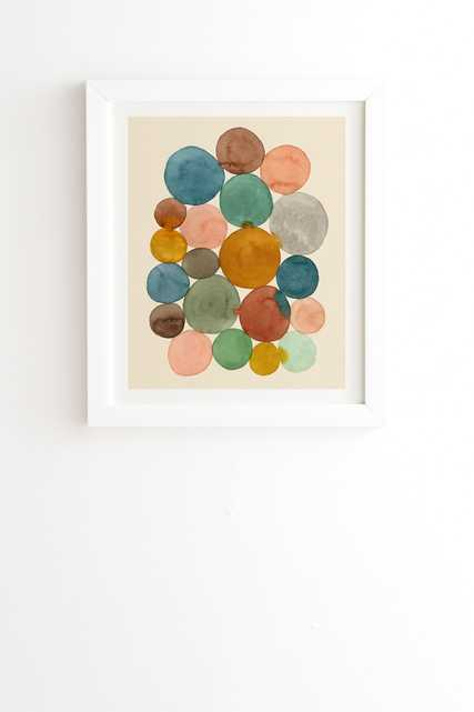 """Framed Wall Art White, Connected Dots, 8"""" x 9.5"""" - Wander Print Co."""