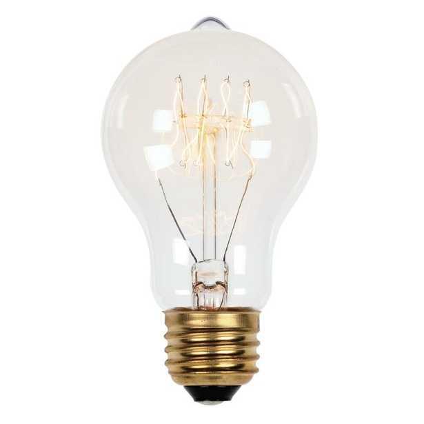 A19 Incandescent, Light Bulb, Soft White (2450K) E26/Medium (Standard) Base Wattage: 60W - Perigold