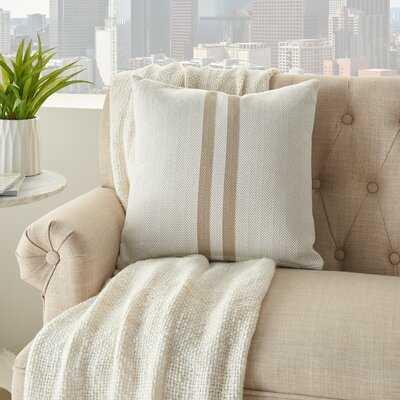 Ayva Cotton Chevron Throw Pillow - Birch Lane