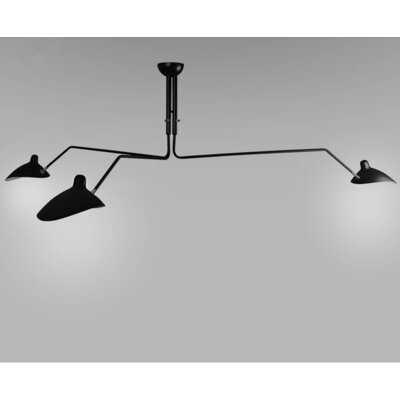 Leiston 3 - Light Shaded Geometric Chandelier - Wayfair