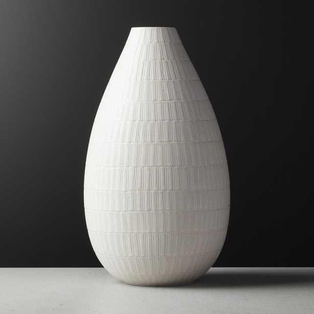 Basel Ivory Teardrop Vase - CB2