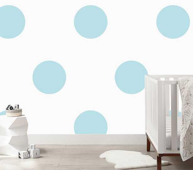 Urban Walls Big Polka Dots Wall Decals, Baby Blue - Pottery Barn Kids