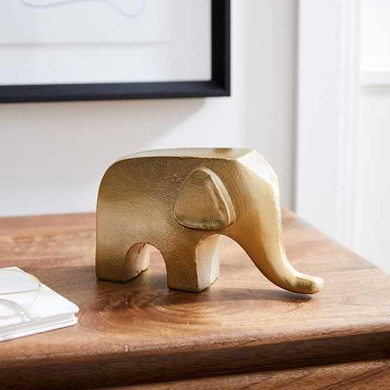 """Brass Animal Object, Elephant 4.5""""H - West Elm"""