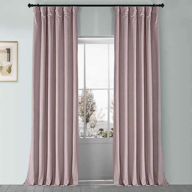 Exclusive Fabrics & Furnishings Ballet Pink Plush Velvet Curtain - 50 in. W x 96 in. L - Home Depot