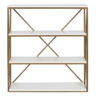 Dawley 4-Layer Modern Luxe Wooden Wall Shelf - Wayfair