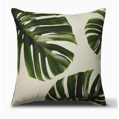 "Palm Leaves Indoor Outdoor Decorative Pillow - Green (20"" X 20"") - Wayfair"