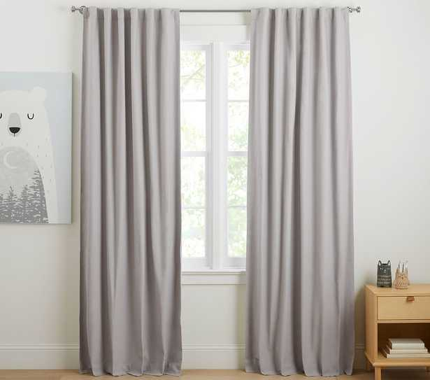 Soothing Sleep Noise Reducing Blackout Curtain, 96 Inches, Gray, Set of 2 - Pottery Barn Kids