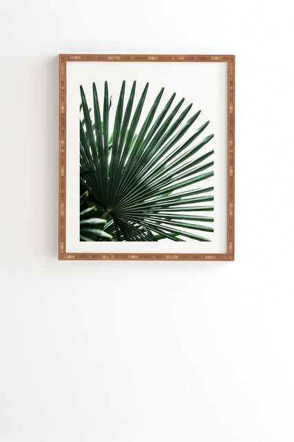 "Framed Wall Art Bamboo, Palm Leaves 13, 11"" x 13"" - Wander Print Co."
