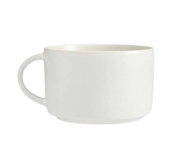 Mason Stoneware Oversized Latte Mugs, Set of 4 - Ivory - Pottery Barn