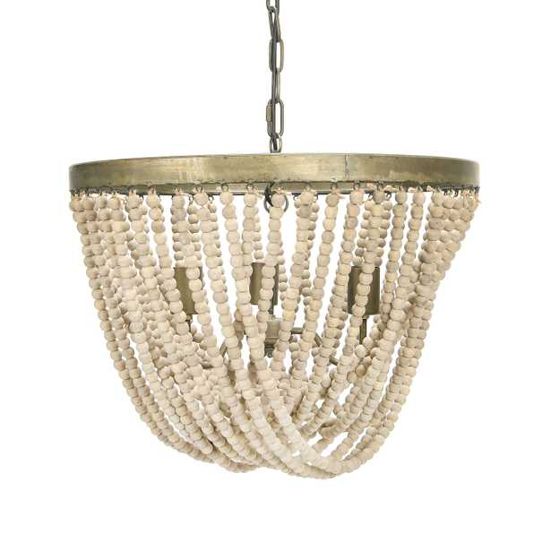 Metal Chandelier with Draped Wood Beads - Nomad Home