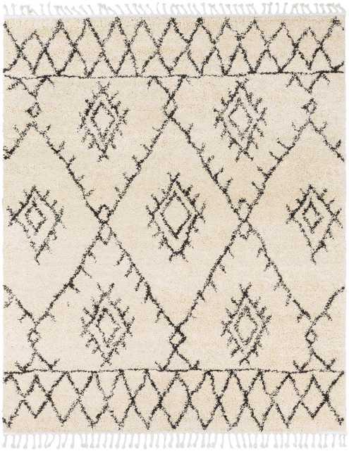 """Berber Shag - 7'10"""" x 10'3"""" Area Rug - Neva Home"""