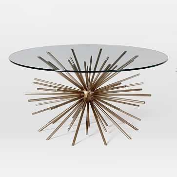 Starburst Coffee Table, Blackened Brass/Glass - West Elm