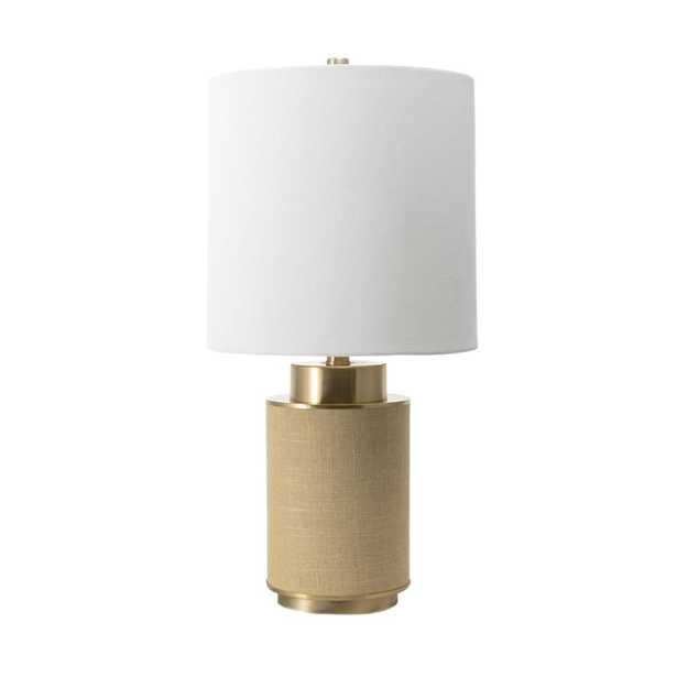 nuLOOM 24 in. Beige Ramona Iron Indoor Table Lamp - Home Depot
