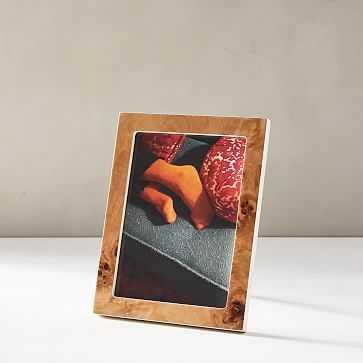 """Burled Wood Frame, Tabletop Frame, Natural, 5""""x7"""" - West Elm"""