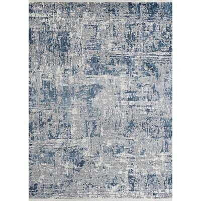Erdinc Abstract Blue/Gray Area Rug - Wayfair