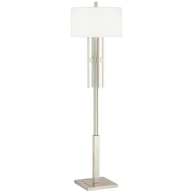 Possini Euro Acadia Brushed Nickel Floor Lamp - Style # 89Y28 - Lamps Plus