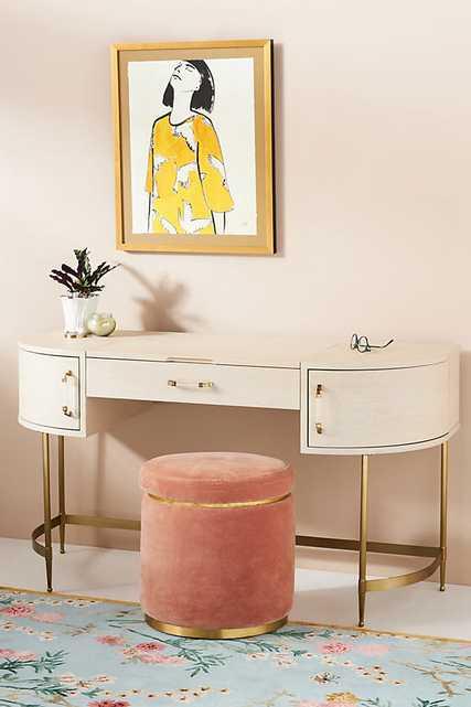 Sonnet Storage Vanity Desk By Anthropologie in Beige - Anthropologie