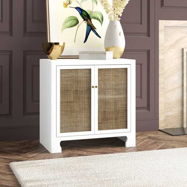 Worlds Away 2 Door Accent Cabinet Color: White - Perigold