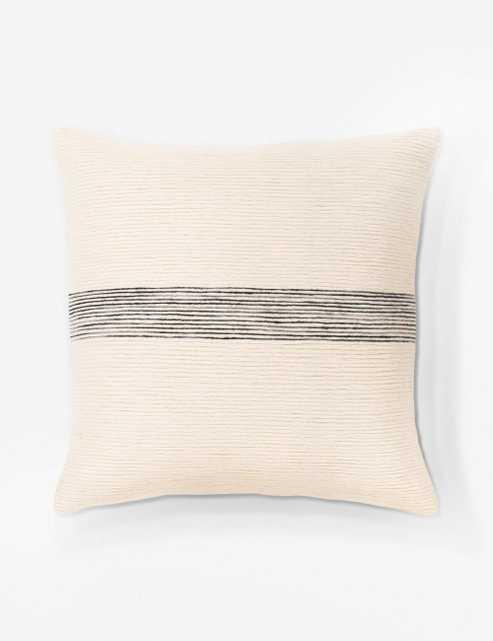 "Selma Pillow, Cream and Charcoal 18"" x 18"" - Lulu and Georgia"