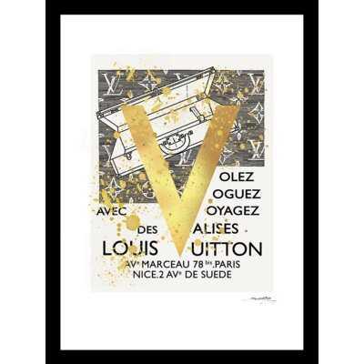 "LOUIS VUITTON ""V"" TRAVEL DESIGN - Picture Frame Print - Wayfair"