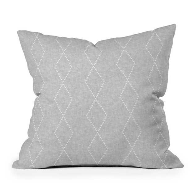 "Geo Boho Diamonds Gray by Little Arrow Design Co - Outdoor Throw Pillow 18"" x 18"" - Wander Print Co."