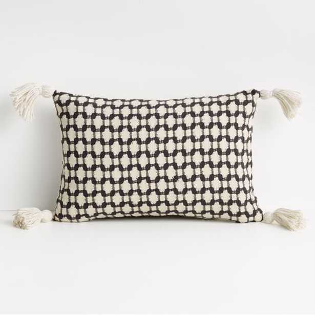 """Tahona 18""""x12"""" Obsidian Textured Pillow Cover - Crate and Barrel"""