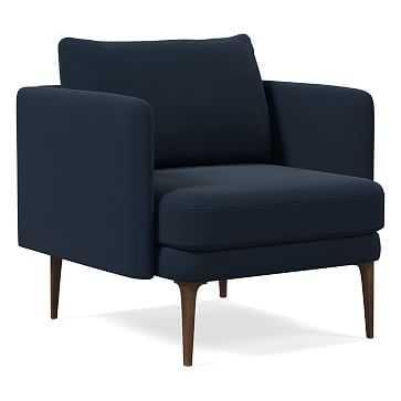 Auburn Chair, Poly, Velvet, Navy, Dark Mineral - West Elm