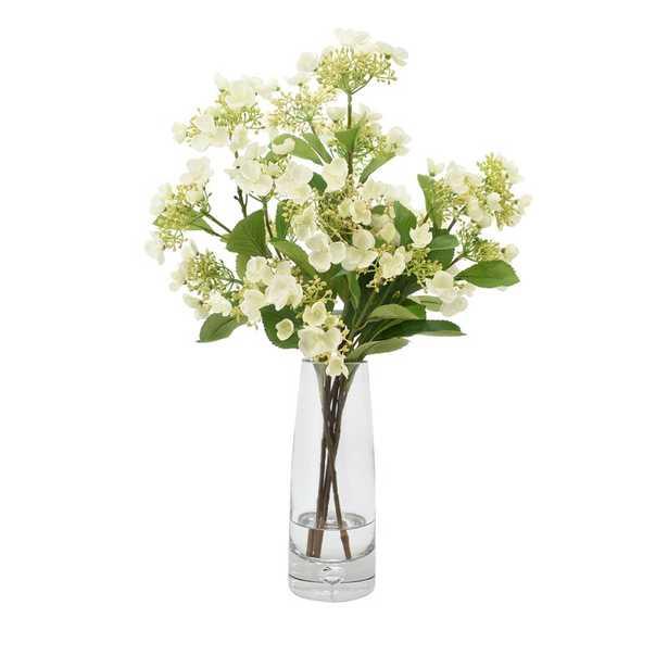 """Viburnum Floral Arrangements in Vase Size: 24"""" H x 17"""" W x 17"""" D, Flower Color: White - Perigold"""