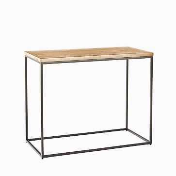 Streamline Side Table, Whitewash, Antique Bronze - West Elm