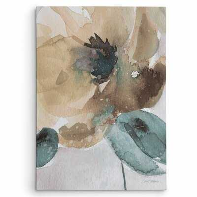 'Watercolor Poppy II' by Carol Robinson Painting Print on Wrapped Canvas - Wayfair