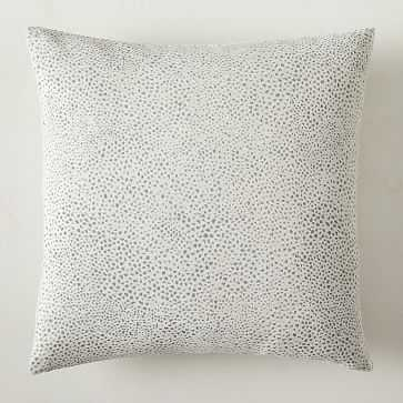 Dotted Chenille Jacquard Pillow Cover, White, 20x20, Set of 2 - West Elm
