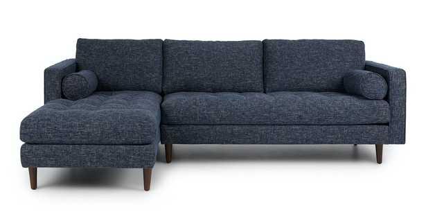 Sven Neptune Blue Left Sectional Sofa - Article