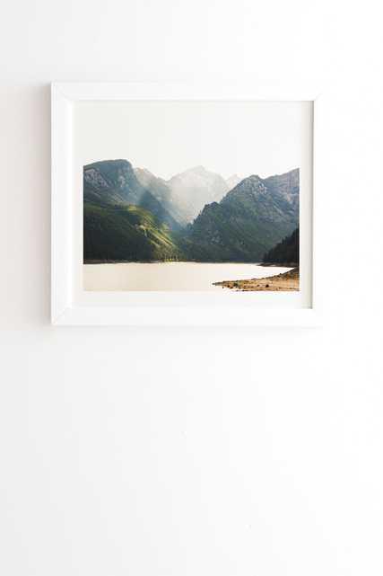 "Montana Light by Ann Hudec - Framed Wall Art Basic White 8"" x 9.5"" - Wander Print Co."