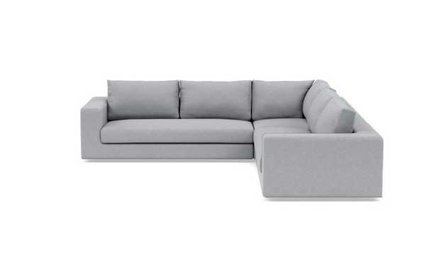 Walters Corner Sectional with Grey Gris Fabric and down alternative cushions - Interior Define