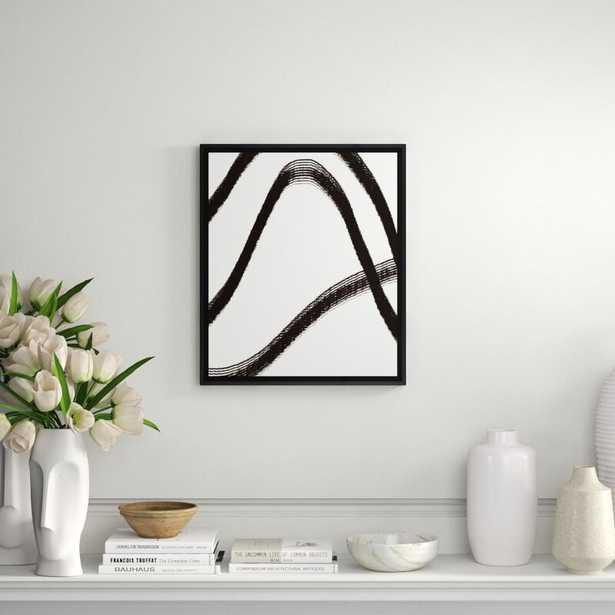 Art Virtuoso Black Lines Framed Painting Print - Perigold