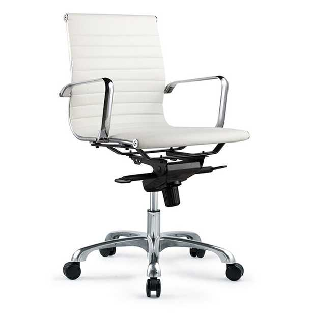 Omega Conference Chair Upholstery Color: White - Perigold
