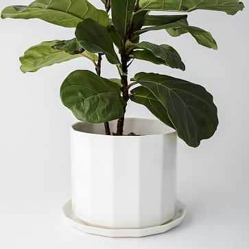 "10"" Riveted Planter, Ivory - West Elm"