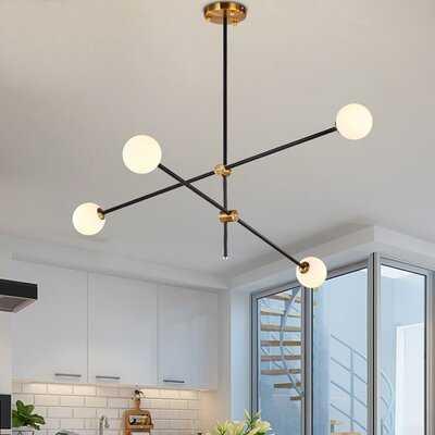 Glenam 4 - Light Sputnik Modern Linear Chandelier - Wayfair