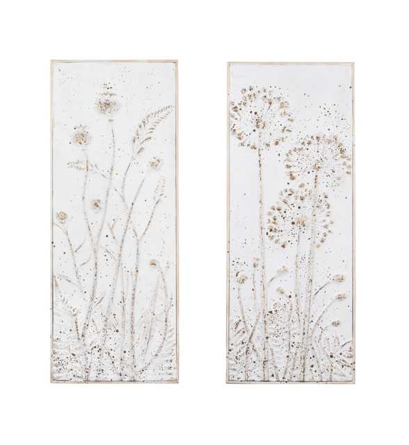 Metal Wall Décor with Flowers (Set of 2 Styles) - Nomad Home