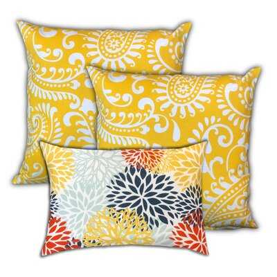 Pineapple Islands Indoor/Outdoor, Removable Cover Pillow, Set Of 3 Pillow - Wayfair